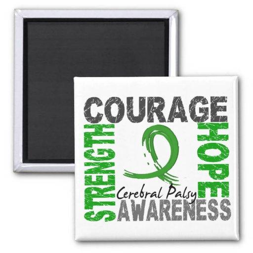 Strength Courage Hope Cerebral Palsy Fridge Magnets