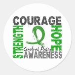 Strength Courage Hope Cerebral Palsy Round Sticker