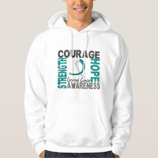 Strength Courage Hope Cervical Cancer Hoodie