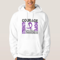 Strength Courage Hope Cystic Fibrosis Hoodie