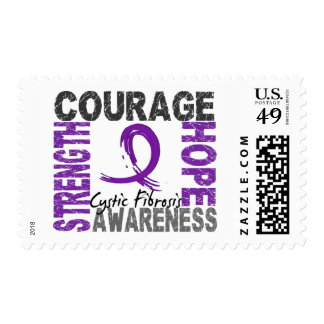 Strength Courage Hope Cystic Fibrosis Postage