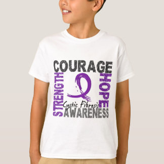 Strength Courage Hope Cystic Fibrosis T-Shirt