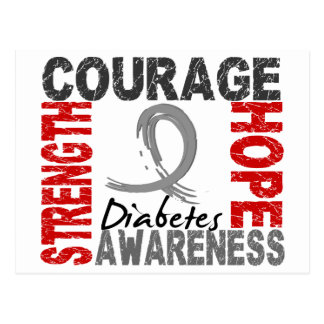 Strength Courage Hope Diabetes Postcard