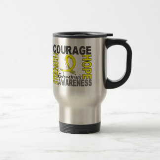 Strength Courage Hope Endometriosis 15 Oz Stainless Steel Travel Mug