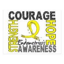 Strength Courage Hope Endometriosis Postcard