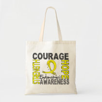 Strength Courage Hope Endometriosis Tote Bag