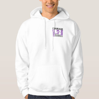 Strength Courage Hope Epilepsy Hooded Pullover