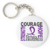 Strength Courage Hope Epilepsy Keychain
