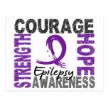 Strength Courage Hope Epilepsy Postcard