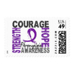 Strength Courage Hope Fibromyalgia Postage Stamp