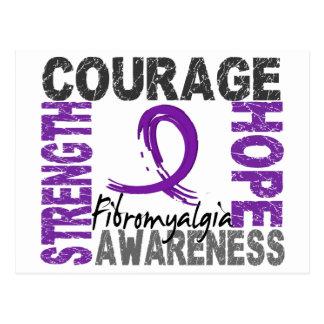 Strength Courage Hope Fibromyalgia Postcard