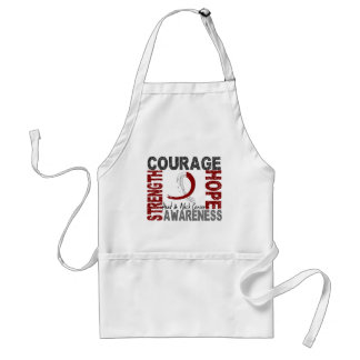 Strength Courage Hope Head Neck Cancer Adult Apron
