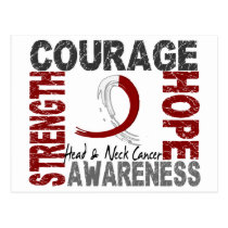 Strength Courage Hope Head Neck Cancer Postcard