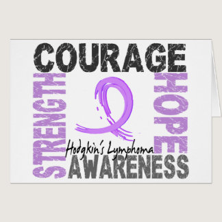 Strength Courage Hope Hodgkin's Lymphoma Card