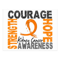 Strength Courage Hope Kidney Cancer Postcard