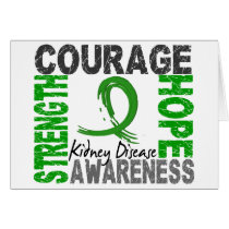 Strength Courage Hope Kidney Disease Card
