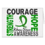 Strength Courage Hope Kidney Disease Greeting Card