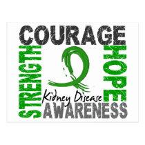 Strength Courage Hope Kidney Disease Postcard