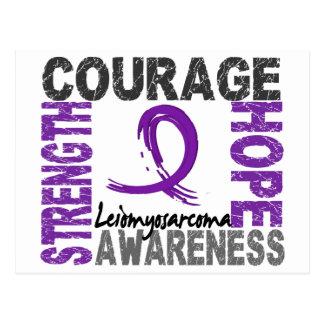 Strength Courage Hope Leiomyosarcoma Postcard