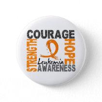Strength Courage Hope Leukemia Pinback Button