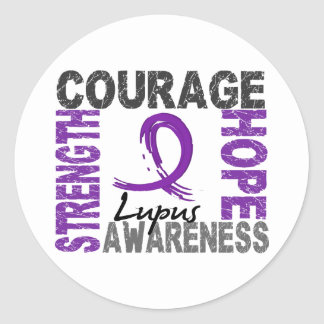Strength Courage Hope Lupus Classic Round Sticker