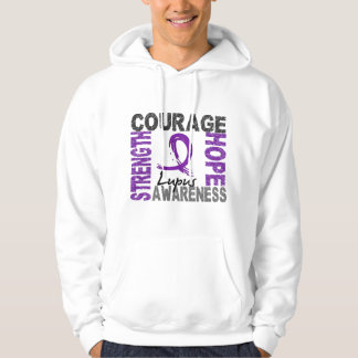 Strength Courage Hope Lupus Hoodie