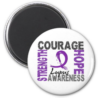 Strength Courage Hope Lupus 2 Inch Round Magnet