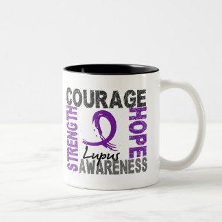 Strength Courage Hope Lupus Two-Tone Coffee Mug