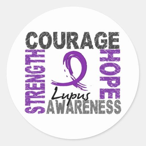 Strength Courage Hope Lupus Sticker