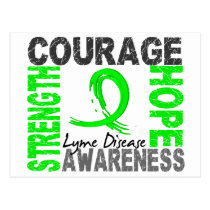 Strength Courage Hope Lyme Disease Postcard