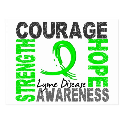 Strength Courage Hope Lyme Disease Post Card