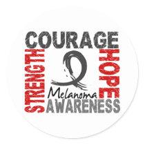 Strength Courage Hope Melanoma Classic Round Sticker
