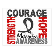 Strength Courage Hope Melanoma Postcard