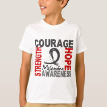 Strength Courage Hope Melanoma T-Shirt