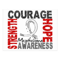 Strength Courage Hope Mesothelioma Postcard