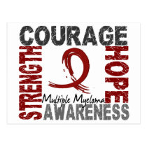 Strength Courage Hope Multiple Myeloma Postcard