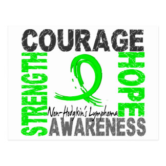 Strength Courage Hope Non-Hodgkin's Lymphoma Postcard