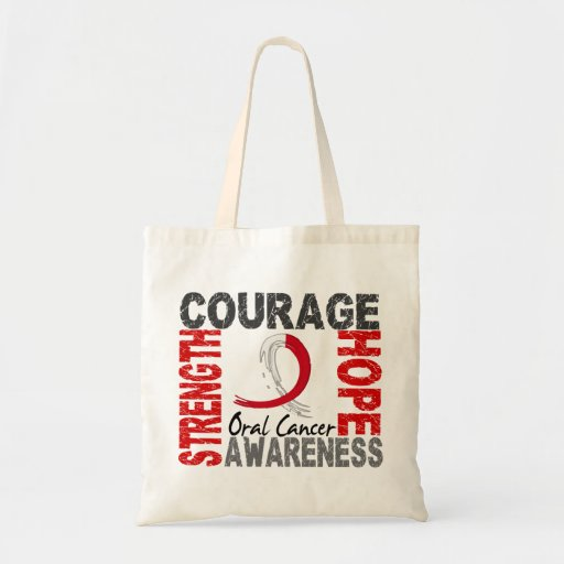 Strength Courage Hope Oral Cancer Budget Tote Bag