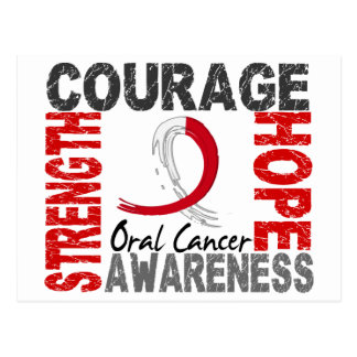 Strength Courage Hope Oral Cancer Postcard