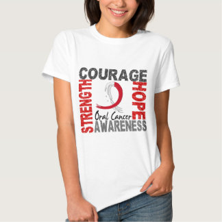 Strength Courage Hope Oral Cancer T-shirt