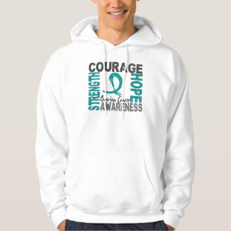 Strength Courage Hope Ovarian Cancer Hoodie