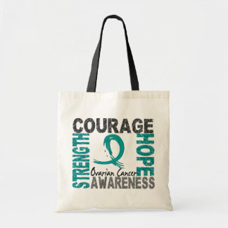 Strength Courage Hope Ovarian Cancer Tote Bag