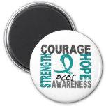 Strength Courage Hope PCOS Fridge Magnet