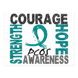 Strength Courage Hope PCOS Postcard