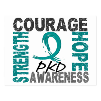Strength Courage Hope PKD Postcard