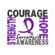 Strength Courage Hope Sarcoidosis Postcard