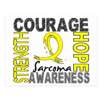 Strength Courage Hope Sarcoma Postcard