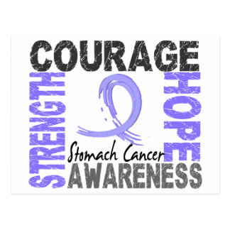 Strength Courage Hope Stomach Cancer Postcard