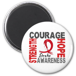 Strength Courage Hope Stroke 2 Inch Round Magnet