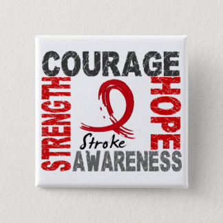 Strength Courage Hope Stroke Button